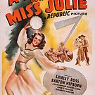 Vintage Hollywood Nostalgia A Song for Miss Julie Film Movie Advertisement Poster by jnniepce