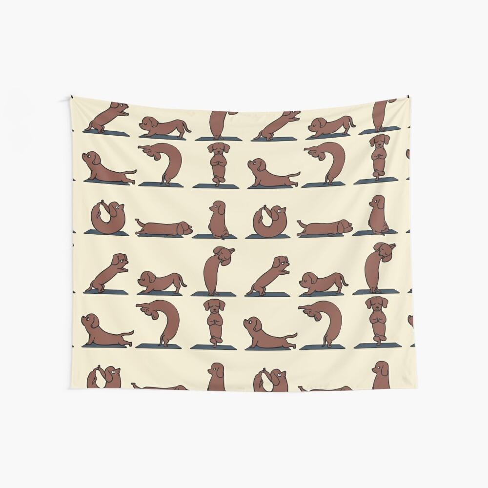 Dackel-Yoga Wandbehang