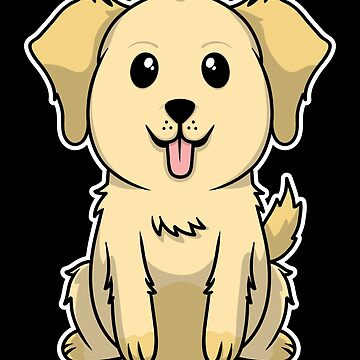 Golden Retriever Animal Kid Dog Cute Sweet Gift by Khal1
