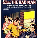 Vintage Hollywood Nostalgia Alias The Bad Man Film Movie Advertisement Poster by jnniepce