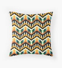 Colorful Zigzag Ethnic Pattern Throw Pillow