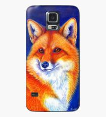 Colorful Red Fox Portrait Case/Skin for Samsung Galaxy