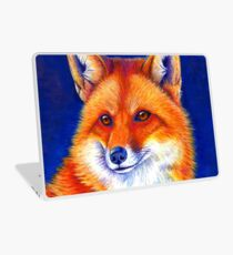 Colorful Red Fox Portrait Laptop Skin