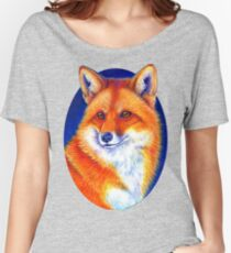 Colorful Red Fox Portrait Women's Relaxed Fit T-Shirt