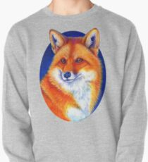 Colorful Red Fox Portrait Pullover