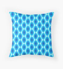 Luminous Abstract Pattern in Shades of Blue Throw Pillow