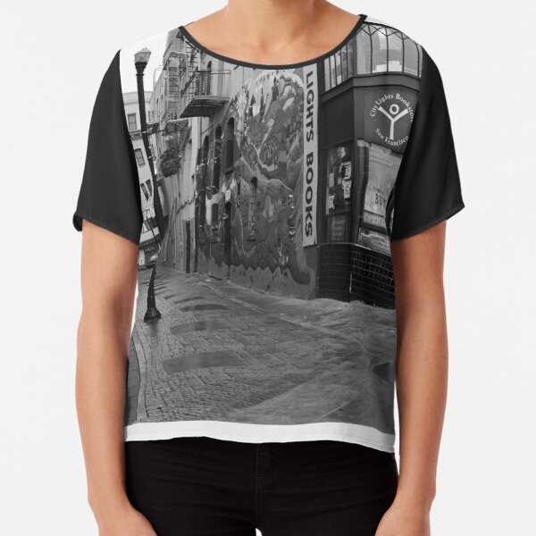 Jack Kerouac Alley Chiffon Top
