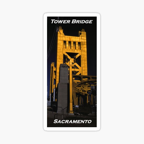 Tower Bridge, Sacramento Sticker