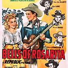 Vintage Hollywood Nostalgia Bells of Rosarita Roy Rogers & Trigger Film Movie Advertisement Poster by jnniepce