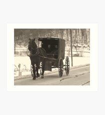 Amish near Breman Ohio in Fairfield County Art Print