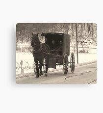 Amish near Breman Ohio in Fairfield County Canvas Print