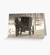 Amish near Breman Ohio in Fairfield County Greeting Card