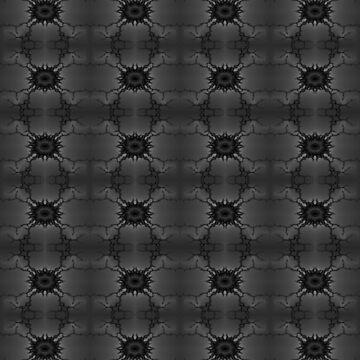 Mandelbrot Fractal Seamless Pattern VI Monochrome by shane22