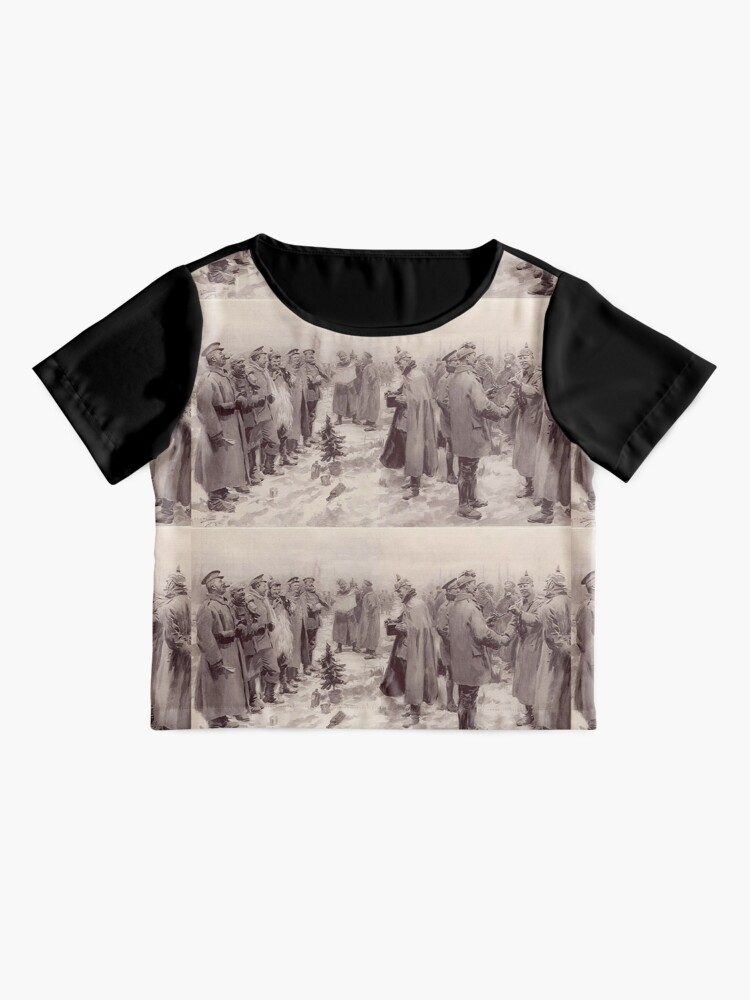 Alternate view of Christmas Truce, 1914 Chiffon Top
