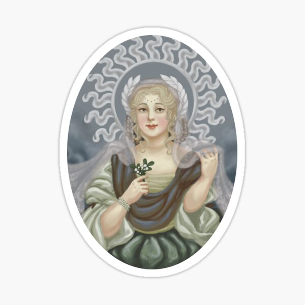 Lady of the Winter Solstice Sticker