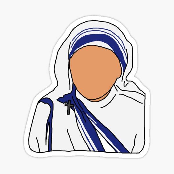 Mother Teresa Illustration  Sticker