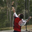 David Playing Tennis by S S