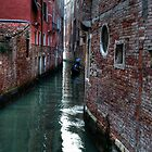 Gondola ride, Venetian canal. by Cathy Grieve