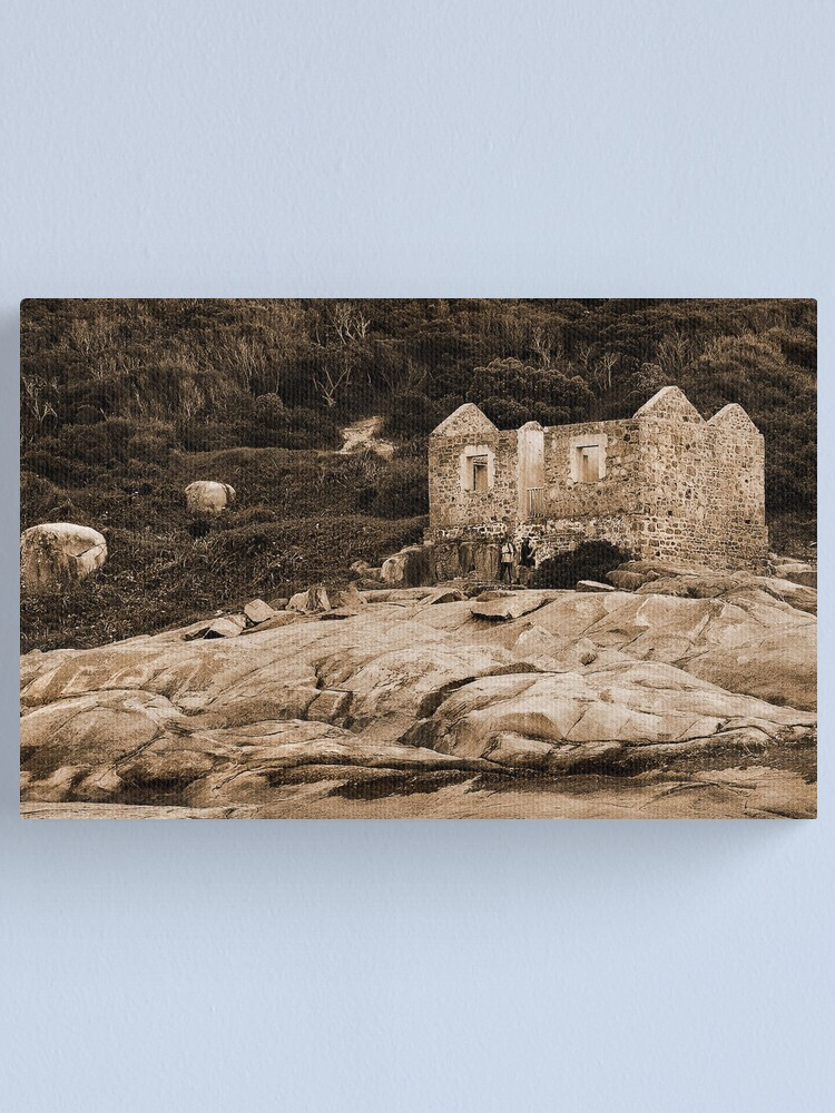 Alternate view of Lighthouse Keepers Cottage Sepia Canvas Print
