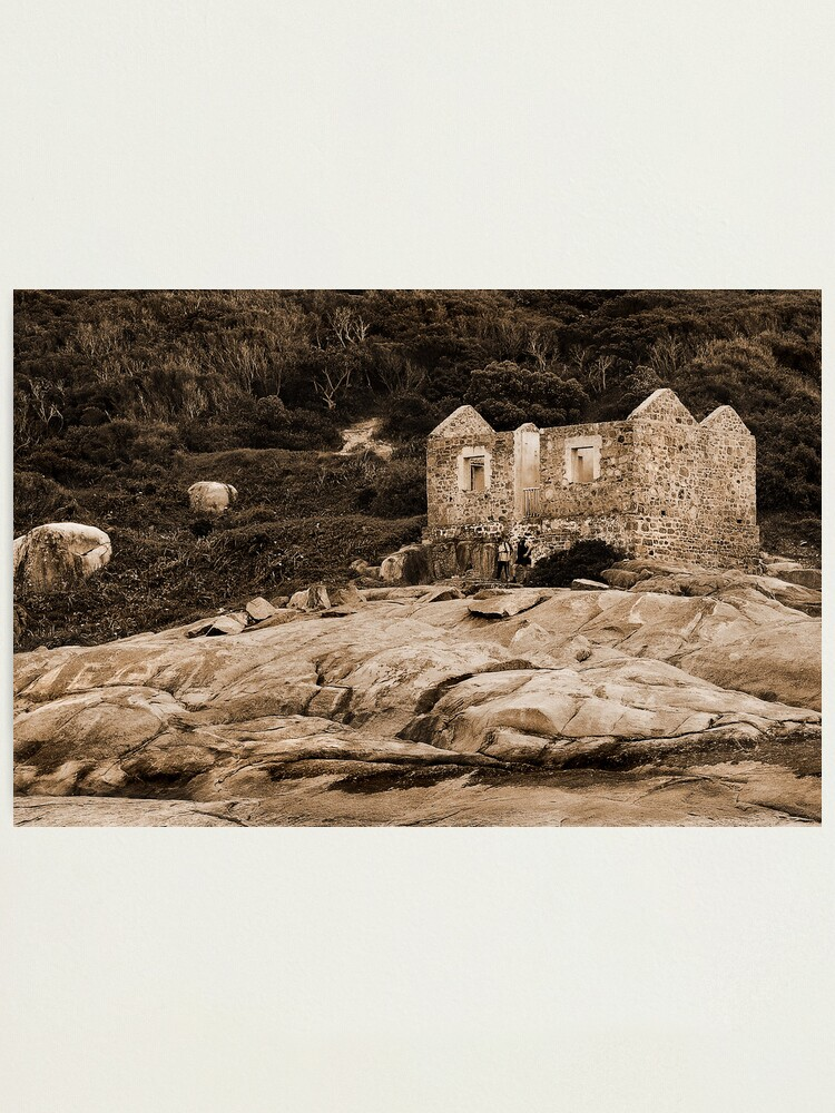 Alternate view of Lighthouse Keepers Cottage Sepia Photographic Print