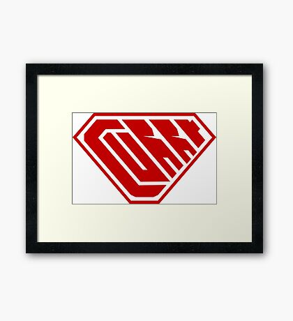 Curry SuperEmpowered (Red) Framed Art Print