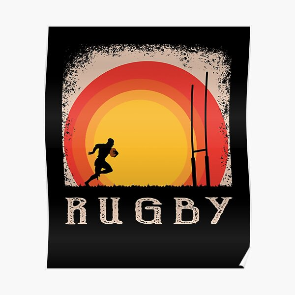 Rugby Style Vintage Poster