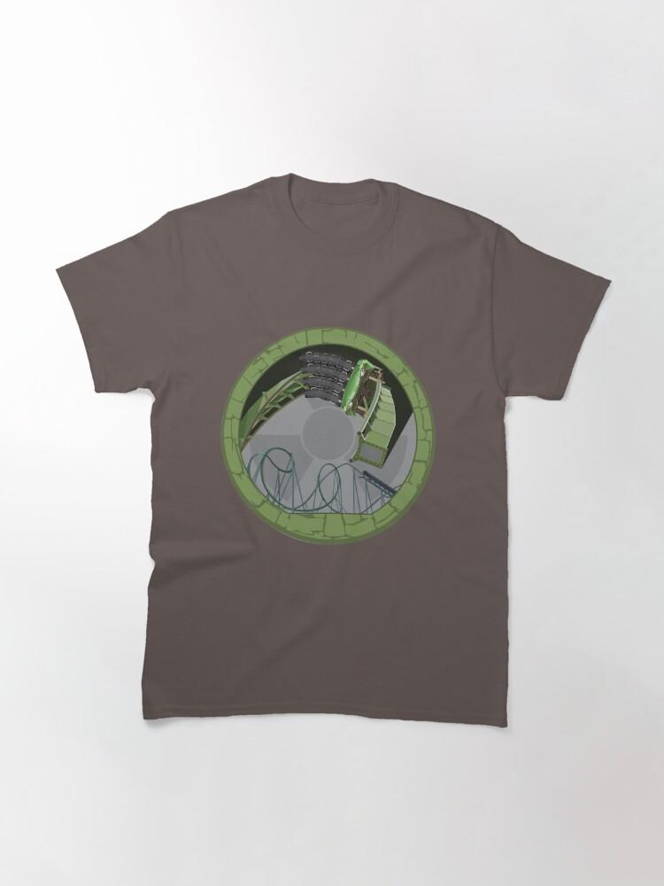 Alternate view of Hulkcoaster Islands of Adventure - B&M Launch Coaster Design Classic T-Shirt