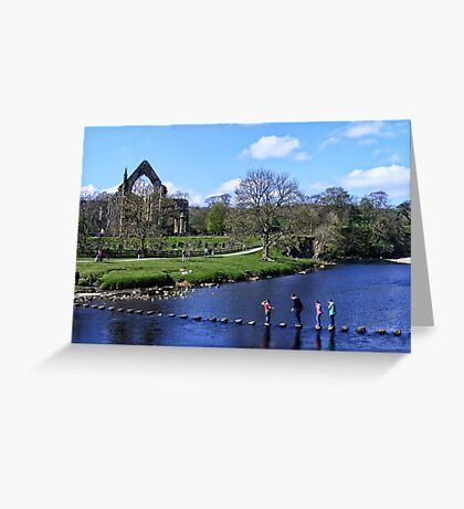 Stepping Stones and Bolton Abbey Greeting Card