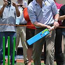 Prince William Playing Cricket At Flowerdale by Luke Donegan