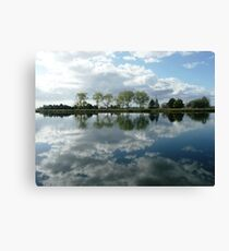 Reflections in the Macleay River, Kempsey, N.S.W. Canvas Print