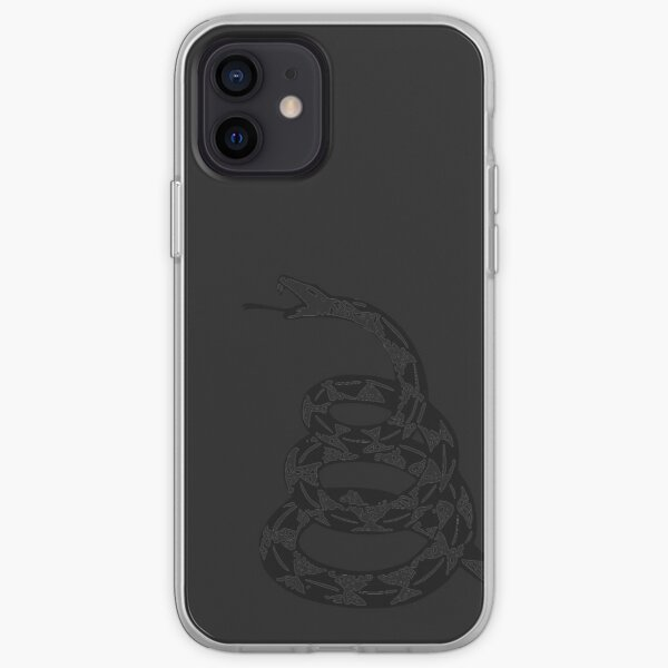 Gadsden Snake - Black Out iPhone Soft Case