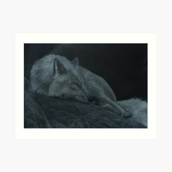 Sleeping strength Art Print