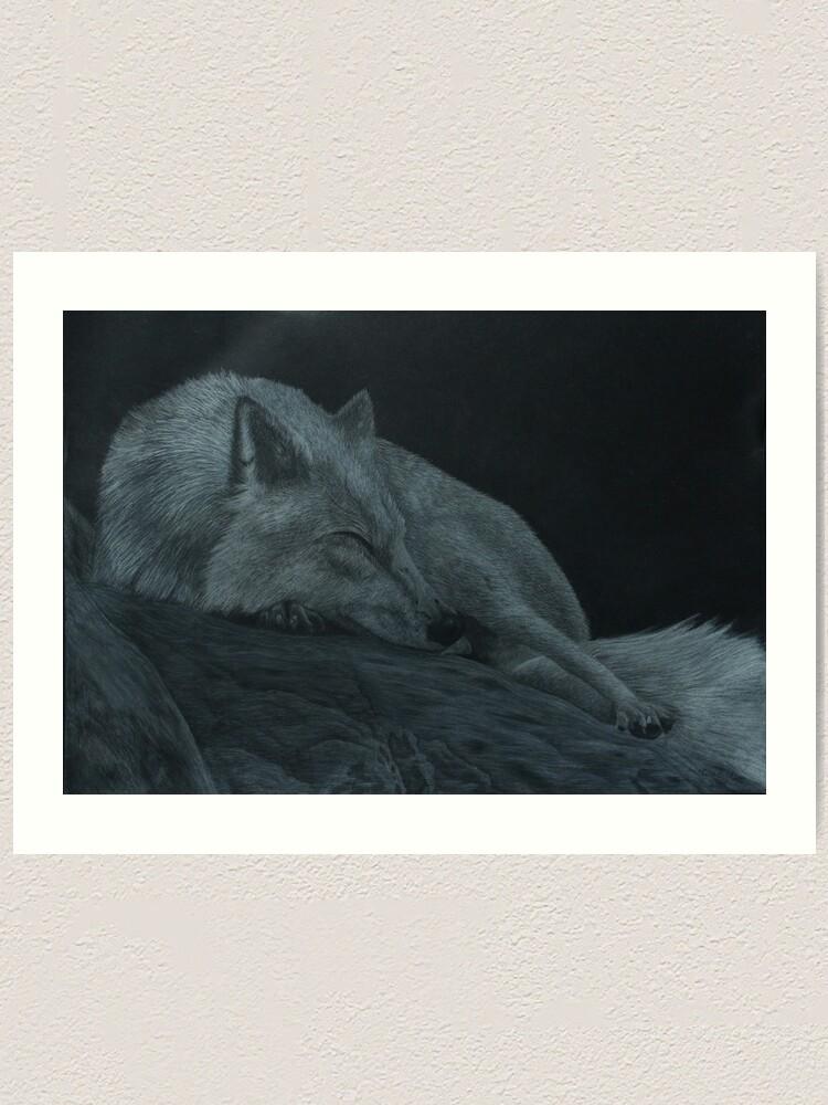 Alternate view of Sleeping strength Art Print