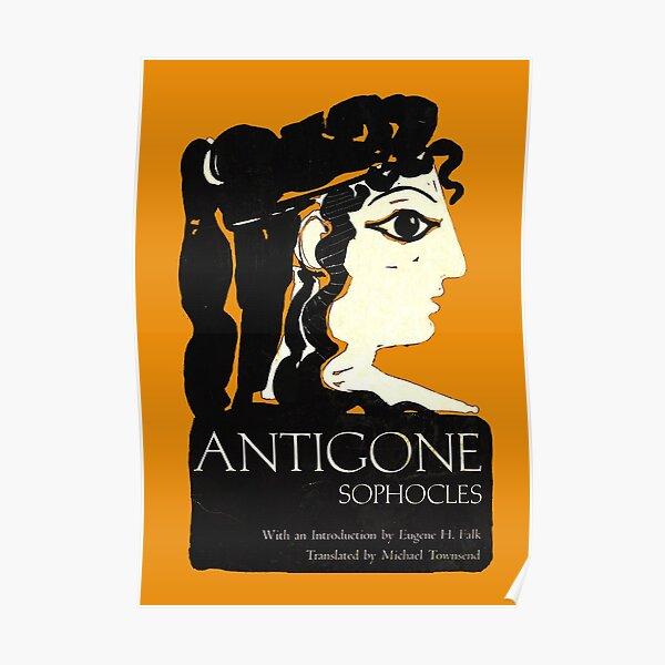 Couverture de livre Antigone Sophocles Poster