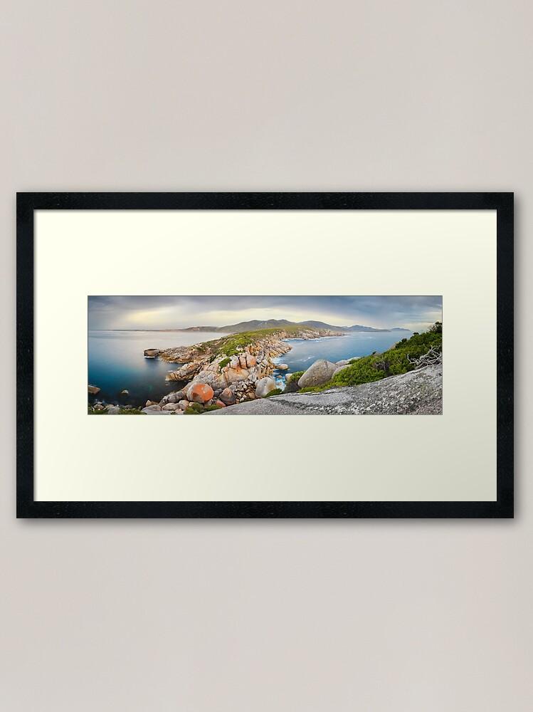 Alternate view of Tongue Point, Wilsons Promontory, Victoria, Australia Framed Art Print