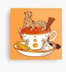 Orange and Cinnamon Tea Metal Print