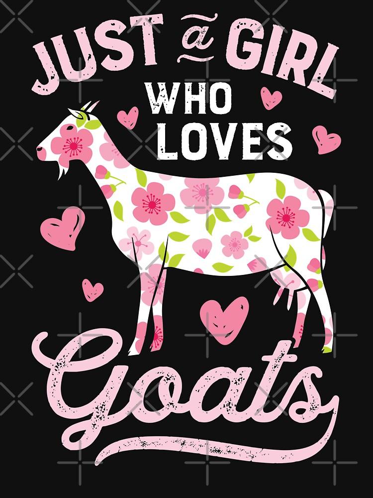 Just a Girl who Loves Goats T shirt Goat Farmer Farm Women by LiqueGifts