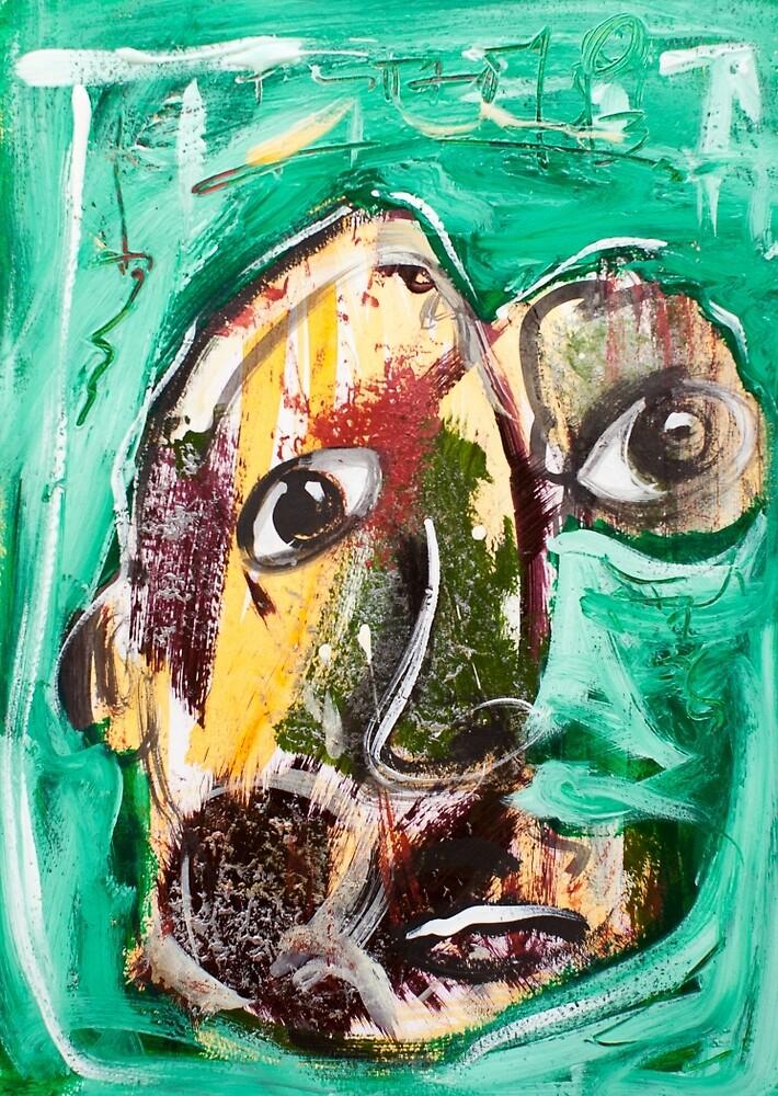 Self in green by Adam Bogusz