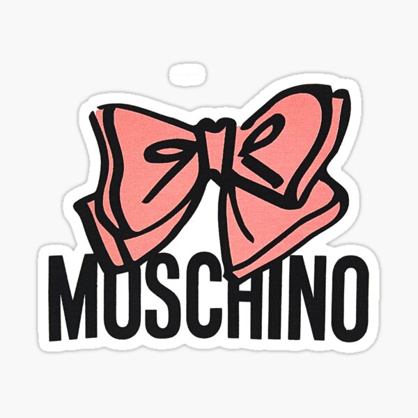 Cinta rosa moschino Pegatina