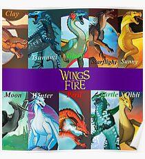 Wings of Fire alle Kapitel Drachen Poster