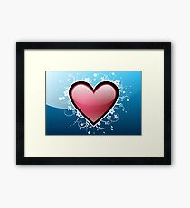 Abstract Digital Heart Framed Print
