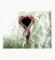Abstract Digital Grunge Heart Photographic Print