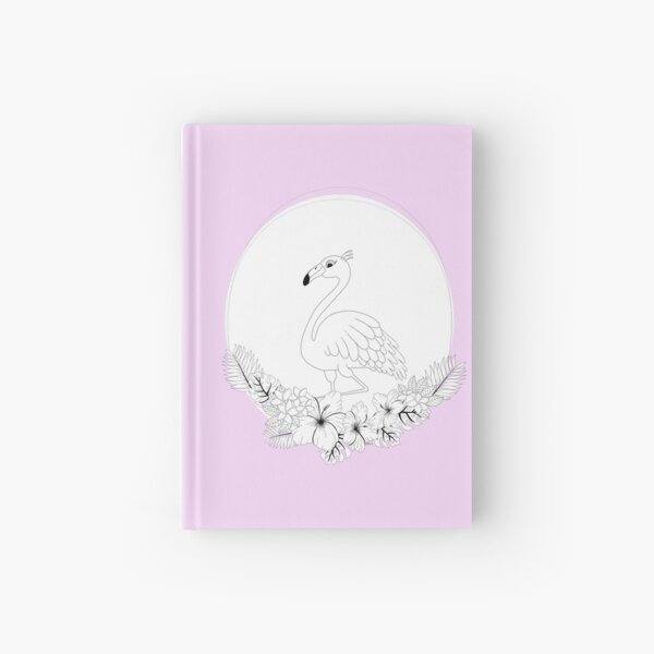 Just add Colour - Tropical Flamingo Hardcover Journal