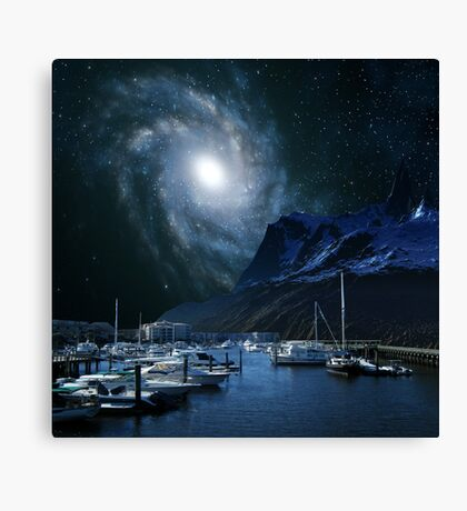Galaxies Edge Harbour Canvas Print