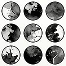 Black And White Abstract Circles by Printpix