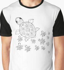 Just add Colour - Mumma Turtles Graphic T-Shirt