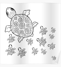 Just add Colour - Mumma Turtles Poster