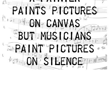 Musicians Paint Pictures On Silence by benhonda