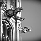 Gargoyles of Westminster Cathedral London, England by Kent Burton