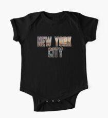Body de manga corta para bebé Nueva York (Contorno Blanco)